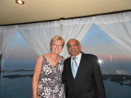 Erin Gibson & Dave Kumar at the 2010 OBA Awards Gala held at the CN Tower